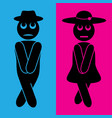 funny wc toilet icons vertical concept vector image