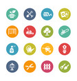 gardening icons - fresh colors series vector image vector image