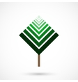 Geometrical tree vector image