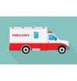 image an white car ambulance vector image vector image