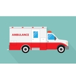 image of an white car Ambulance vector image vector image