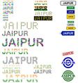 Jaipur text design set vector image vector image