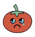 kawaii cute crying tomato vegetable vector image vector image