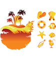 landscape tropical banners and collection be vector image