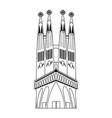 line sagrada familia in barcelona sky tower