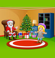 living room decoration for christmas and new year vector image vector image