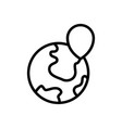 location logistic icon vector image