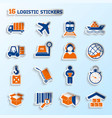 Logistic stickers set vector image vector image