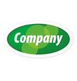 logo eco company vector image vector image