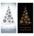 luxurious greeting card for christmas and new year vector image vector image