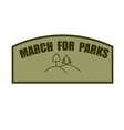 march for parks vector image