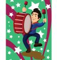 marching band drum vector image