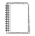notebook with metal spiral in black blurred vector image vector image