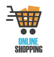 online shopping chart design white background vect vector image vector image