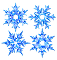 Origami snowflakes vector image