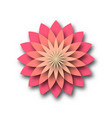pink lotus - symbol of yoga wellness beauty and vector image