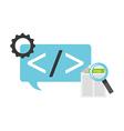 programming language vector image vector image