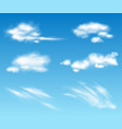 realistic transparent clouds collection vector image