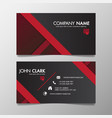 red and black modern creative business template vector image vector image