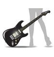 rock guitar legs vector image vector image