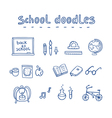 School doodles vector image