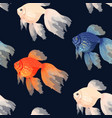 seamless pattern with high detail goldfish vector image vector image