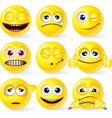 Set of yellow smileys 3 vector image