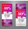 Set with banners for sale with box vector image vector image