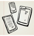Sketches of a e-book tablet and smartphone vector | Price: 1 Credit (USD $1)