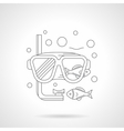 Snorkeling mask detailed line icon vector image vector image