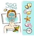 Spa woman waiting spa massage vector image vector image
