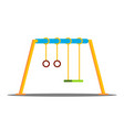 swing kindergarten outside park playground vector image