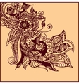 tattoo henna vector image vector image