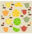 Tea wallpaper vector image vector image