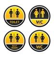 Toilet symbols vector image vector image