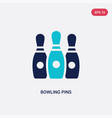 two color bowling pins icon from entertainment vector image