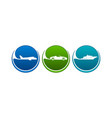 vehicles icons like airline highway seaway vector image vector image