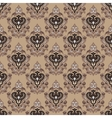 Vintage seamless damask background vector image vector image
