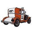 Vintage small firepatrol car vector image vector image