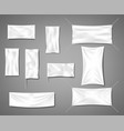 white fabric blank textile banners for advertising vector image