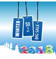 winter big sale 2018 vector image
