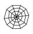 creepy spider web over white background icon vector image