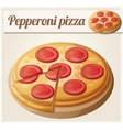 Pepperoni pizza Detailed icon vector image