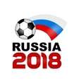 Colored logo Football Championship 2018 vector image