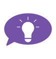 lamp idea with bubble speech vector image