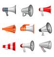 megaphone bullhorn loudspeaker or announce vector image