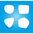 Set of 4 stickers on a blue background vector image