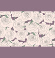 seamless pattern of roses buds of roses vector image
