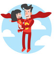 super dad and super daughter vector image