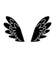 wings feathers angel bird freedom pictogram vector image